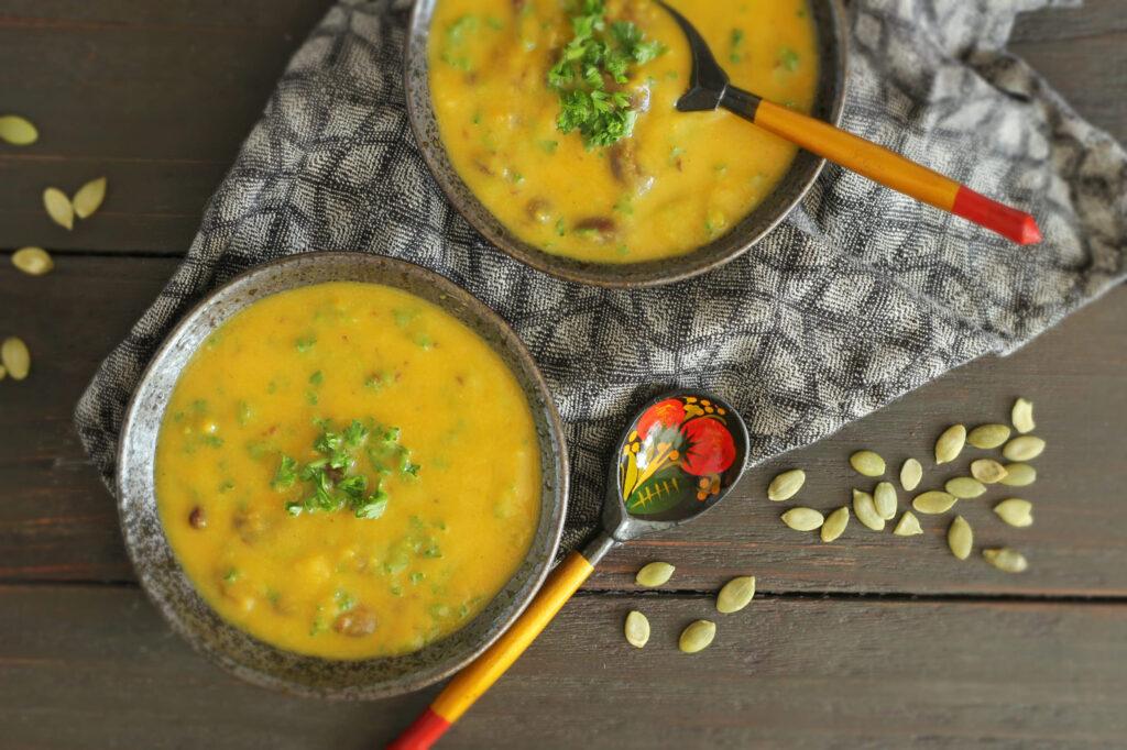 Trinta moliūgų ir morkų sriuba