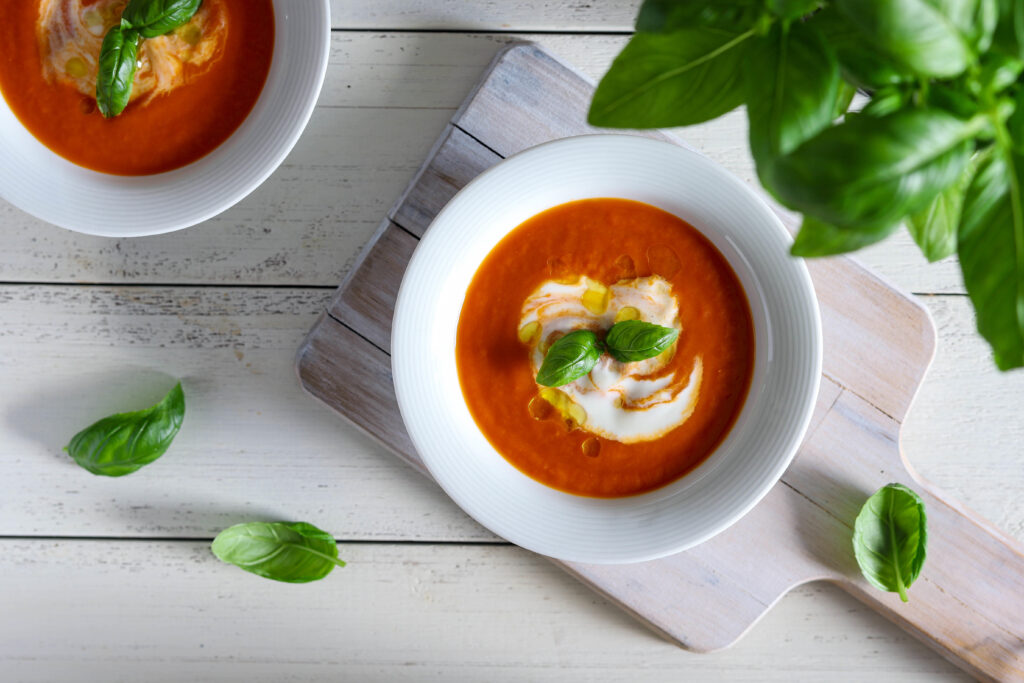 Aštri pomidorų sriuba